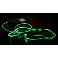 Светящиеся наушники LED (зеленый)