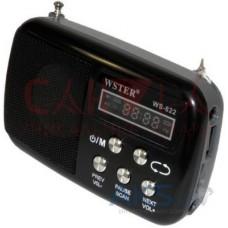 Колонка-радиоприёмник WS-822 MicroSD/FM радио чёрная