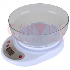 Кухонные весы с чашей до 5кг точность 1гр