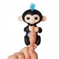 Интерактивная обезьянка Fingerlings Lite Черная