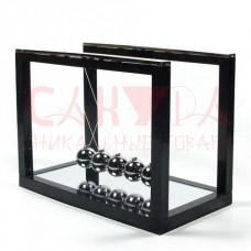Шары ньютона на чёрной подставке с зеркалом 16x11.7x8.5см