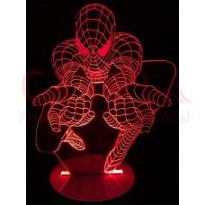 Акриловый 3D светильник Человек-паук (Spider man)