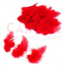 Перья цветные 10 см