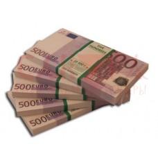 """Прикол """"Пачка денег 500 евро"""""""