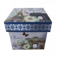 Коробка подарочная (складная), 16*16*16 см
