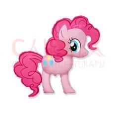 """Шар фигура Пони розовый 104см 40"""""""