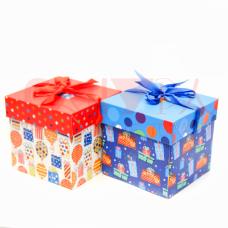 Коробка подарочная складная 11*11*11 см 2 варианта праздник