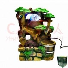 Фонтан декоративный Бочка под деревом