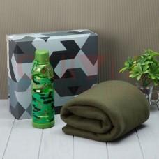 Подарочный набор LoveLife «Для самого смелого»: плед 150х130 см + бутылка
