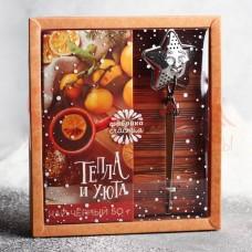 Подарочный набор «Тепла и уюта», в коробке: чай 50 г, ситечко