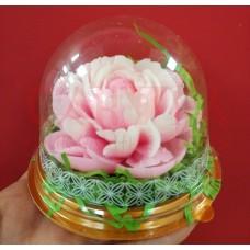Цветы в куполе из мыла ручной работы