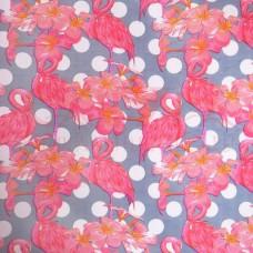 Бумага крафт 60гр/м2, 70см х 1м, Фламинго (серый-белый-малина-коричневый)