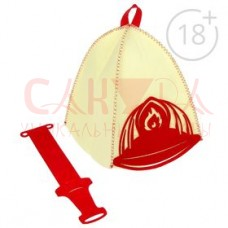 """Набор банный """"Пожарный"""": шапка и набедренный фартук"""