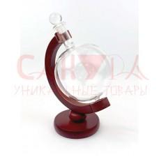 """Емкость для напитков """"Глобус"""" (дерево, стекло)"""