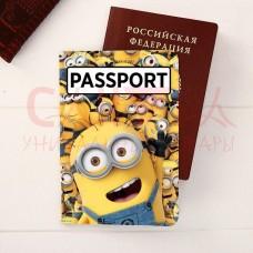 """Паспортная обложка """"Миньоны"""", Гадкий Я"""