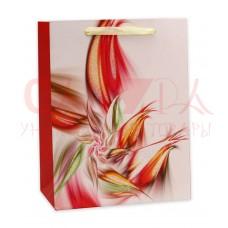 Пакет Dream cards с мат.ламин и глиттером 31х42х12 см Пестрый цветок