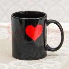 Кружка-хамелеон Доляна «Я тебя люблю», 280 мл чёрный