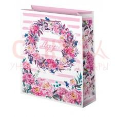 Пакет подарочный 41х56 см Подарок цветы