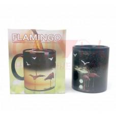 "Кружка хамелеон меняет рисунок ""Фламинго"" терморисунок"