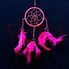 """Ловушка для сна """"Счастье, любовь, романтика"""", розовый, d=6 см, h=25 см"""