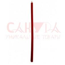 Свеча восковая натуральная красная, 18 см, (уп. 5 шт.)