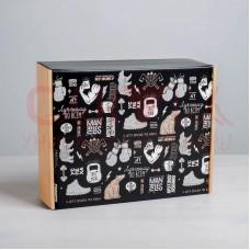Складная коробка «Брутальность», 27 × 21 × 9 см